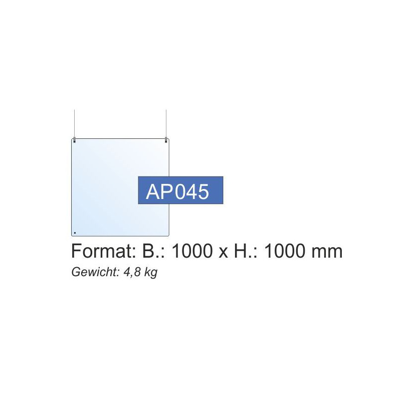 Deckenschutz, 1000x1000x4 mm