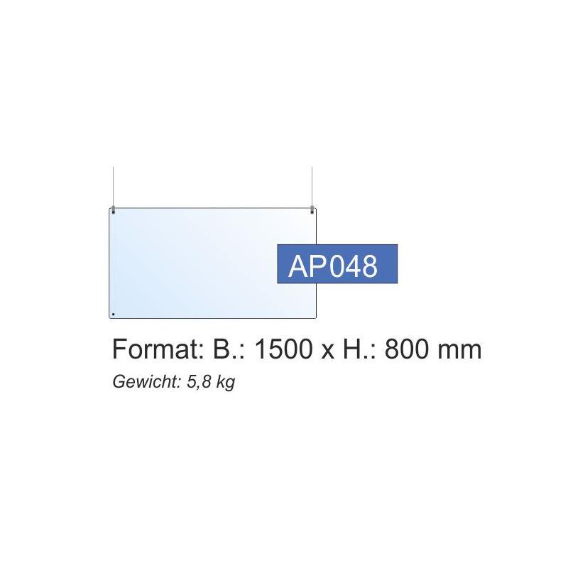 Deckenschutz, 1500x800x4 mm