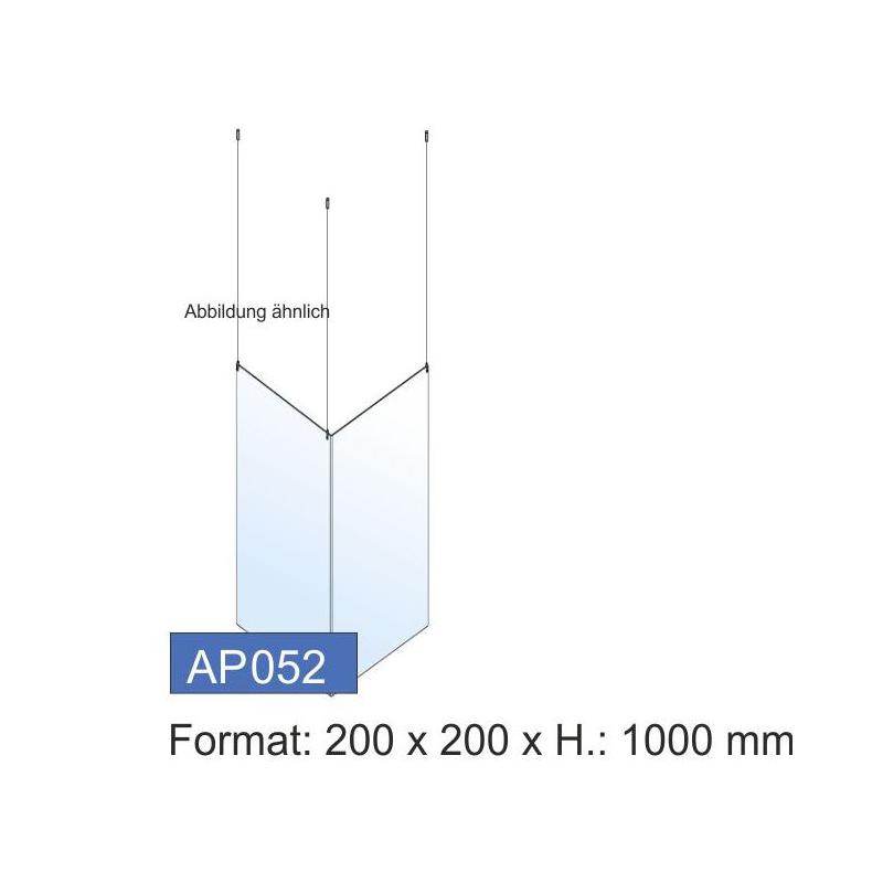 Deckenschutz, Ecklösung, 200x1000x4 mm