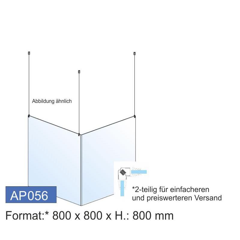 Deckenschutz, Ecklösung, 800x800x4 mm