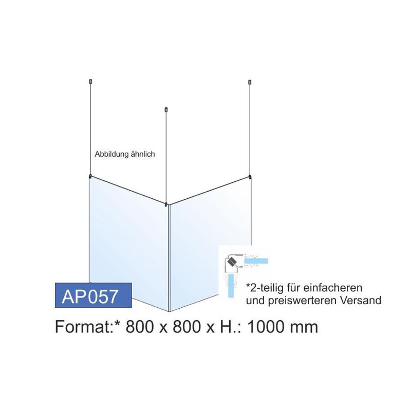 Deckenschutz, Ecklösung, 800x1000x4 mm