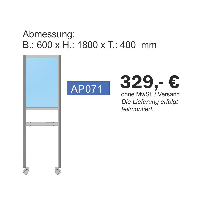 Paket Annahmestation, 180x60x40 cm