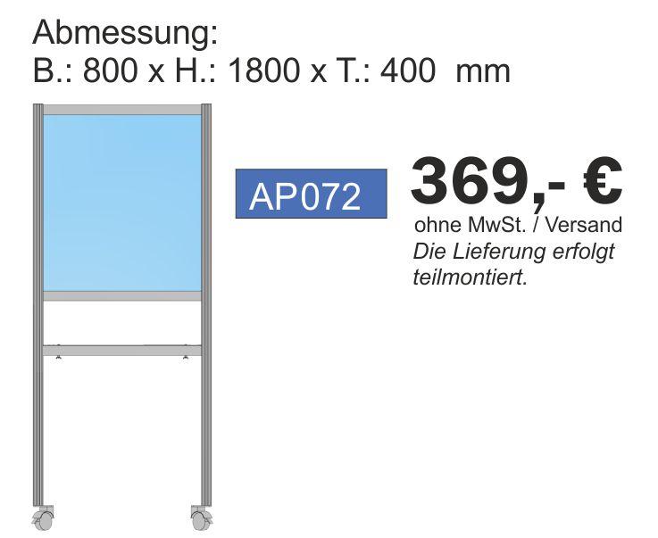 Paket Annahmestation, 180x80x40 cm