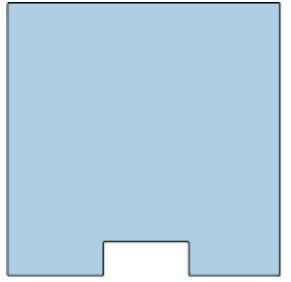 Thekenschutz Individual, 800x800x4 mm, Durchreiche