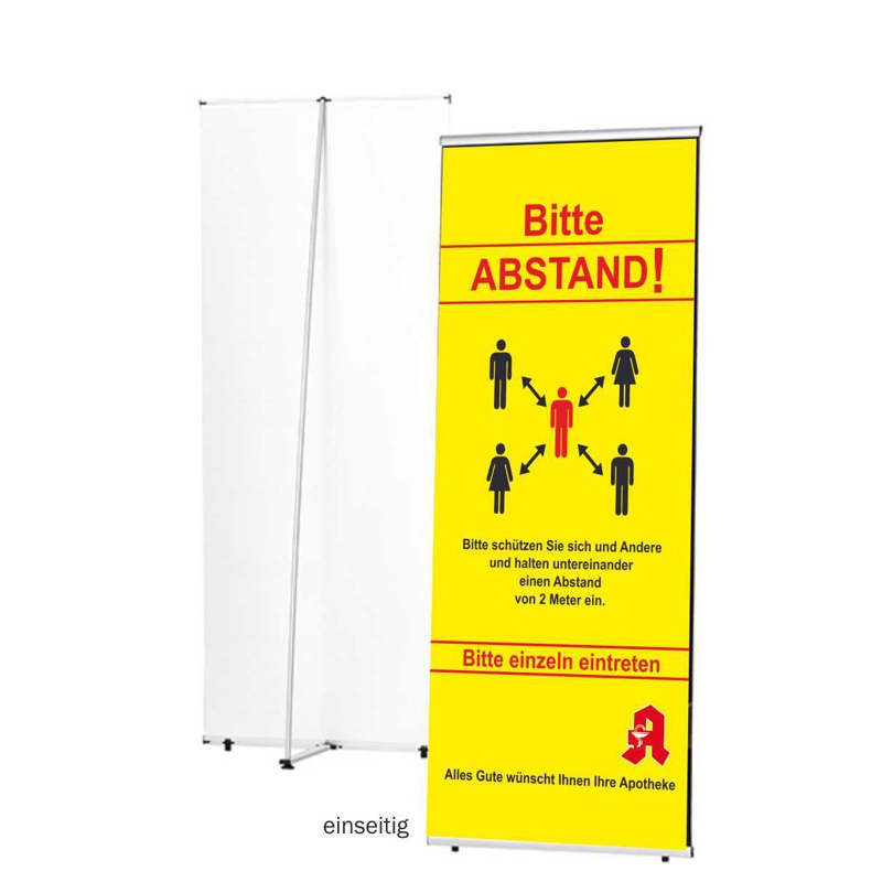 "Roll Up Banner ""Abstand"", 200x85 cm"