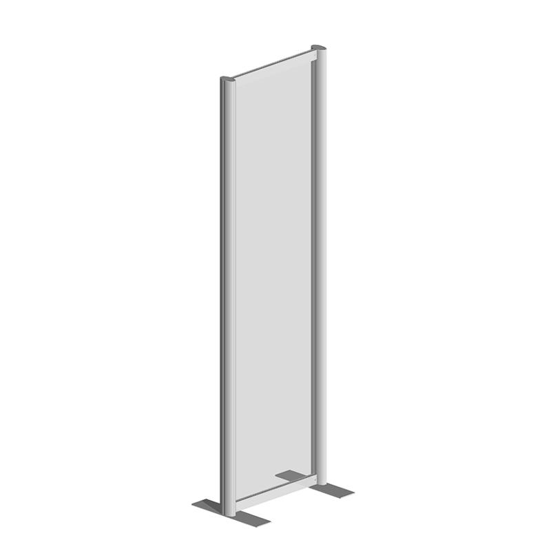 Raum Trennwandsystem, Sicherheitsglas ESG, 200x60x40cm