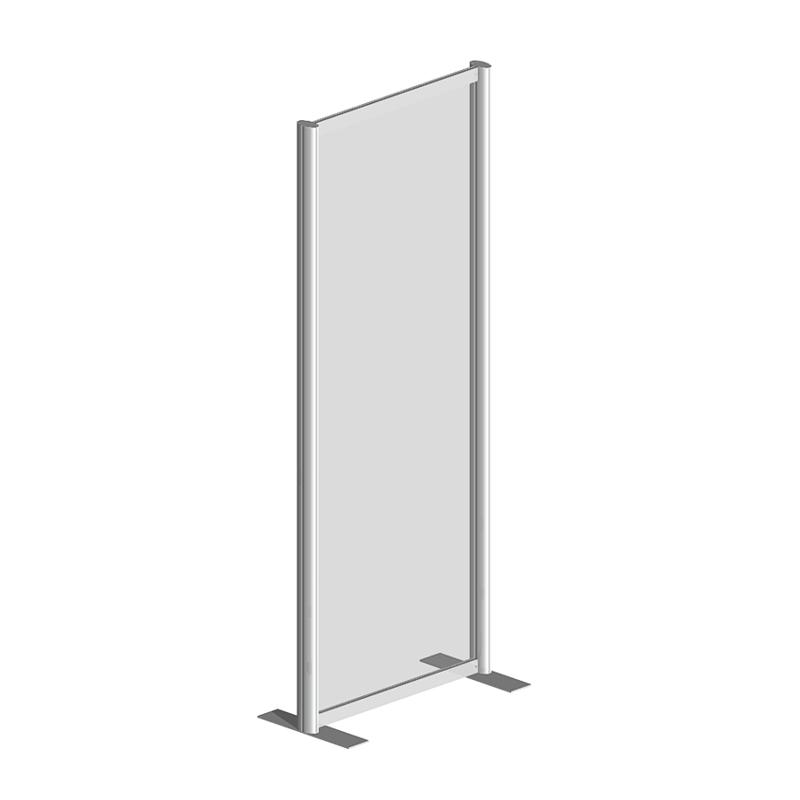Raum Trennwandsystem, Sicherheitsglas ESG, 200x80x40cm